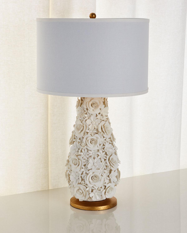 Porcelain Flower Lamp Neiman Marcus