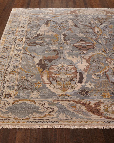 Image 2 of 3: Exquisite Rugs Amata Hand-Knotted Rug, 9' x 12'