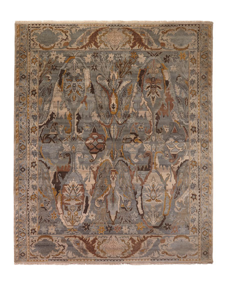 Image 3 of 3: Exquisite Rugs Amata Hand-Knotted Rug, 9' x 12'