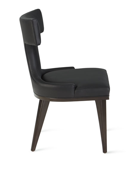 Michael CF Chan for Global Views Anvil-Back Leather Dinning Chair
