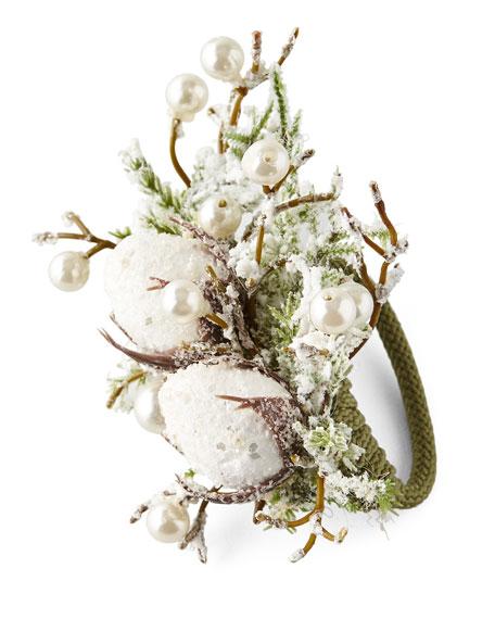 Deborah Rhodes Snowy Cotton Napkin Ring