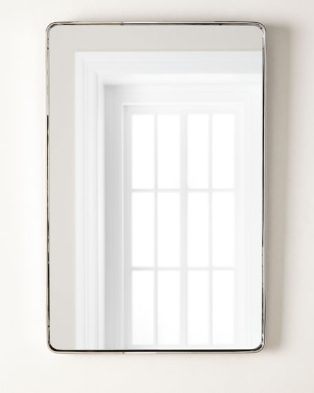 "Image 1 of 2: Stainless Steel Curved Rectangle Mirror, 24"" x 36"""