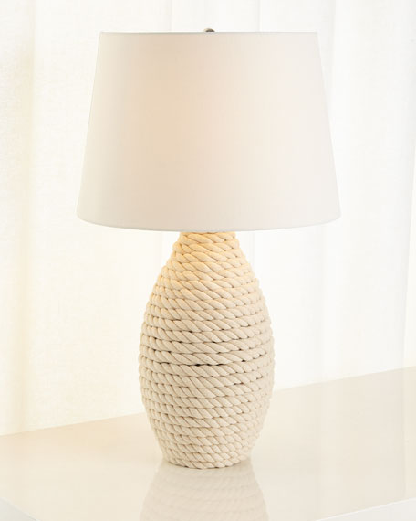 Rope Table Lamp, Cream