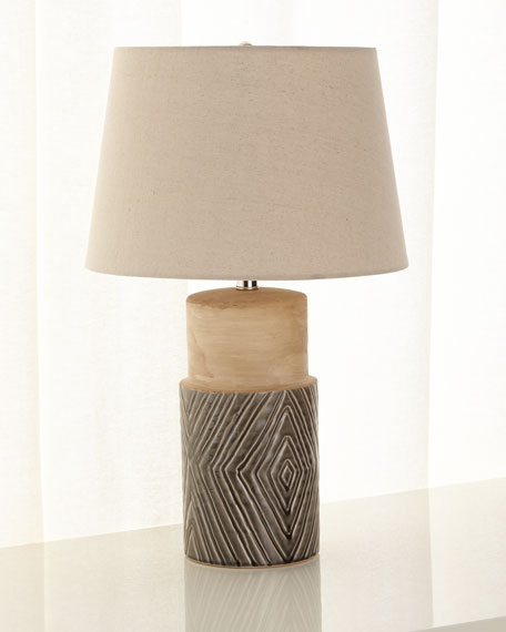Tribal Ceramic Table Lamp