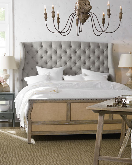Image 1 of 3: Hooker Furniture Jacie Queen Tufted Shelter Bed
