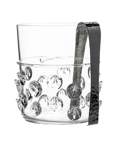 Florence Ice Bucket with Tongs