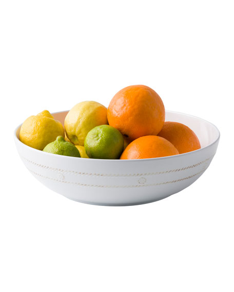 "Juliska Berry & Thread Melamine Whitewash 12"" Bowl"