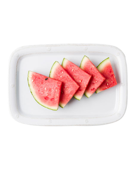 Melamine Whitewash Serving Tray, 16""