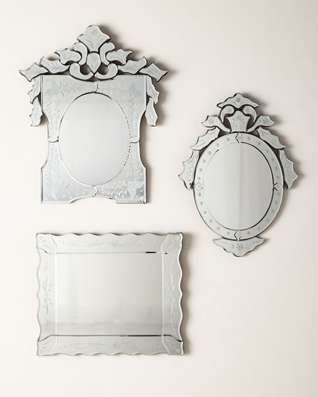 Mini Ornate Oval Venetian Mirror