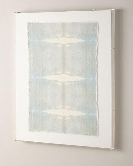 """""""Refuge"""" Acrylic Box Framed Original Hand-Painted Linen Wall Art"""
