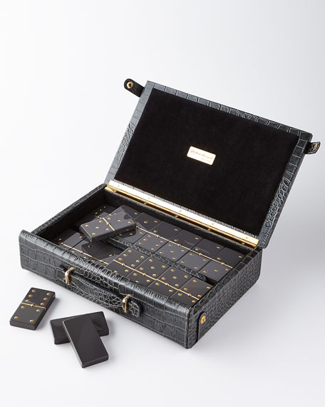 Domino Maxi Set with Croc-Embossed Carry Case