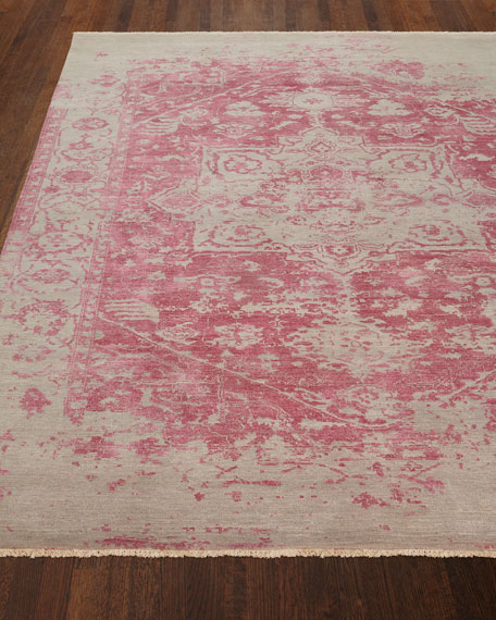 Chazzel Hand-Knotted Rug, 6' x 9' and Matching