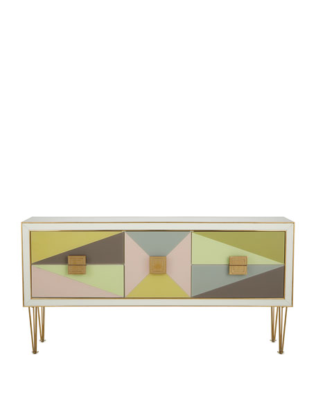 Image 3 of 4: Jonathan Adler Harlequin Console