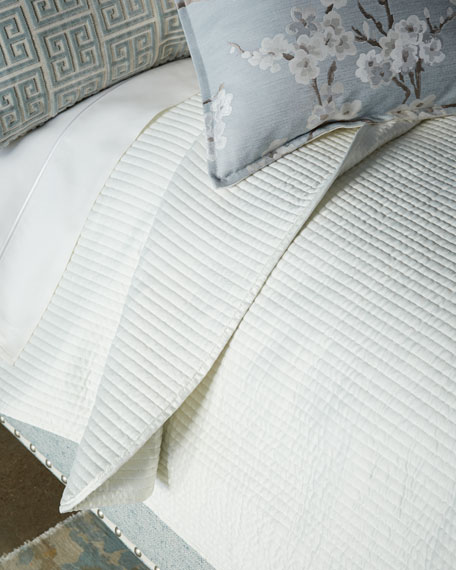 Isabella Collection by Kathy Fielder Lyssa King Channel Coverlet Set