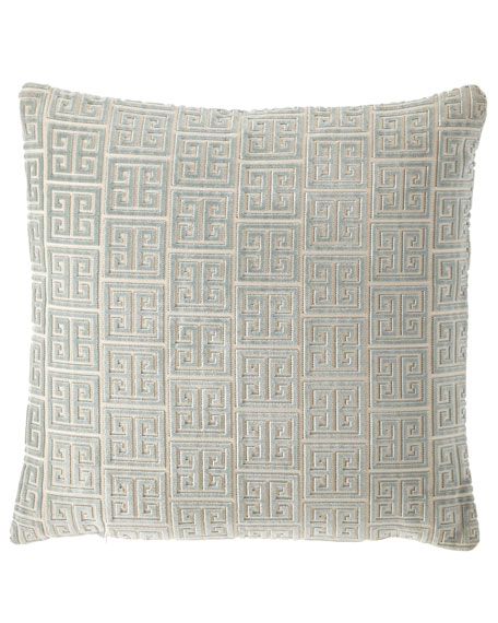 Isabella Collection by Kathy Fielder Lyssa Greek Key European Sham