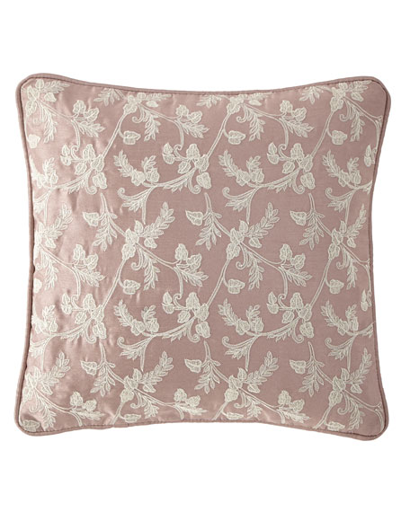 "Victoria Orchid Decorative Pillow, 14""Sq."
