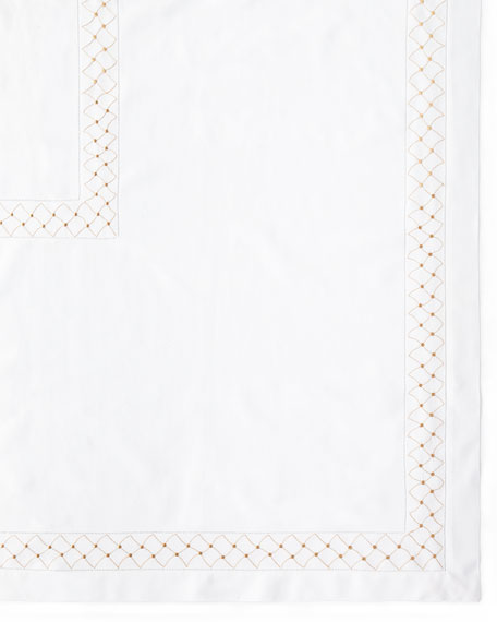 "Madeira Dots Tablecloth, 66"" x 138"""