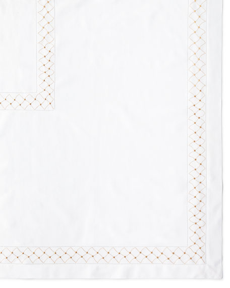 "Madeira Dots Tablecloth, 66"" x 102"""