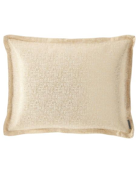 Lili Alessandra Eva Standard Linen Lurex Pillow, Ivory
