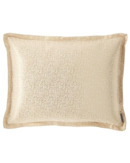 Lili Alessandra Eva King Linen Lurex Pillow, Ivory