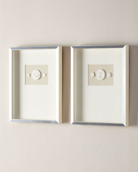 Medium Double Framed Intaglios, Set of 2