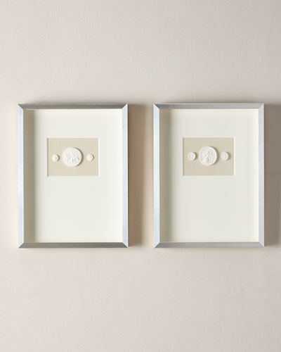 Medium Double Framed Intaglios, Set of 2