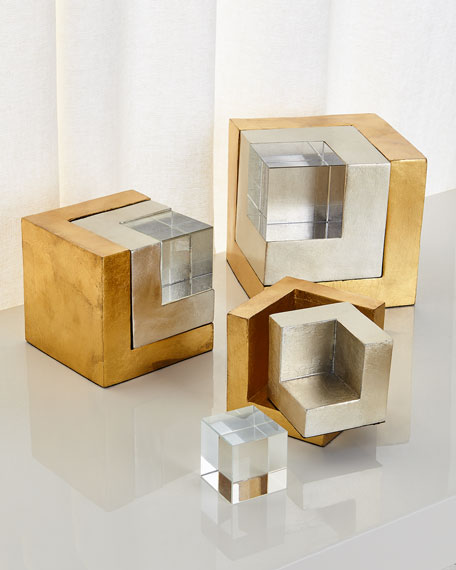 John-Richard Collection Cradled Cubes, Set of 3