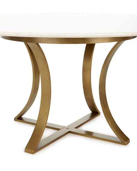 Gayla Marble-Top Dining Table