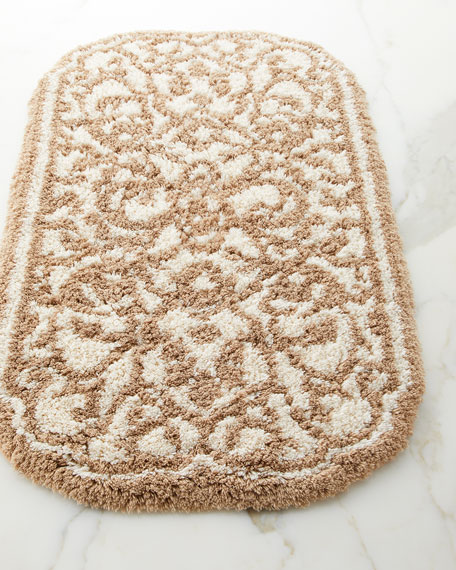 Graccioza Damask Bath Rug