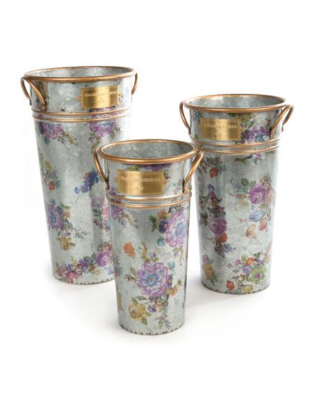 Flower Market Flower Buckets, Set of 3
