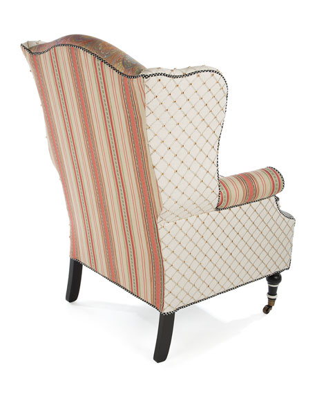 Image 3 of 5: MacKenzie-Childs Patisserie Wing Chair