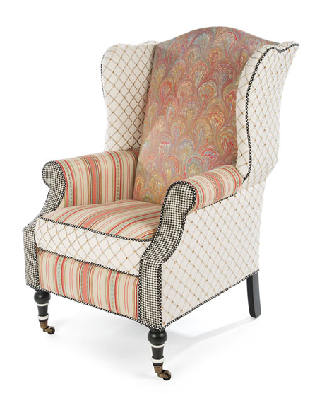 Image 1 of 5: MacKenzie-Childs Patisserie Wing Chair