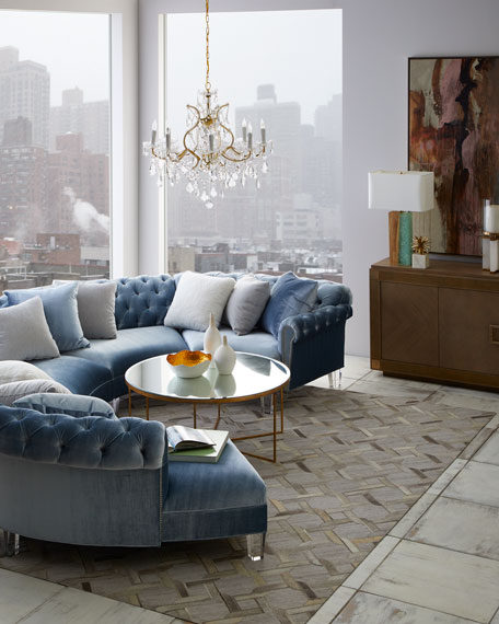 Haute House Varianne Curved Sectional Sofa