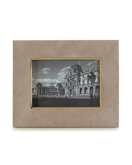 "AERIN DUNE Valentina Suede Picture Frame, 5"" x 7"""