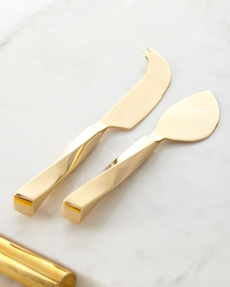 AERIN Leon Cheese Knives, Set of 2