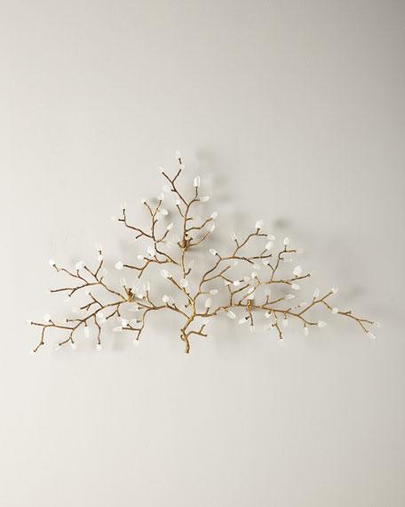 John-Richard Collection Quartz Crystal Branch Wall Sculpture
