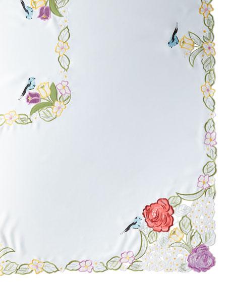 "SFERRA Springtime 72"" x 90""  Tablecloth & 8 Napkins"