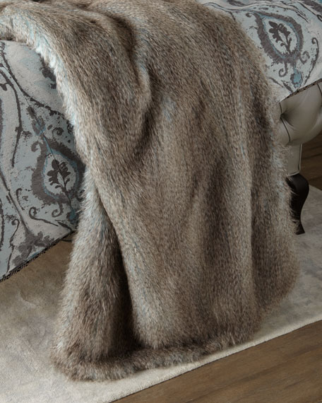 Paolo Faux-Fur Ostrich Throw
