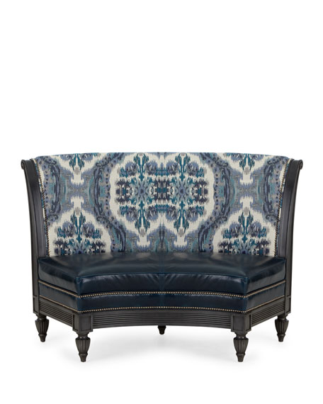 Massoud Country Squire Leather Banquette