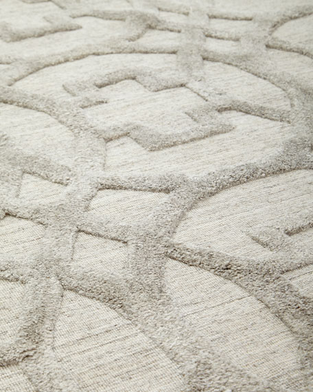Exquisite Rugs Belmar Circles Hand-Knotted Rug, 9' x 12'