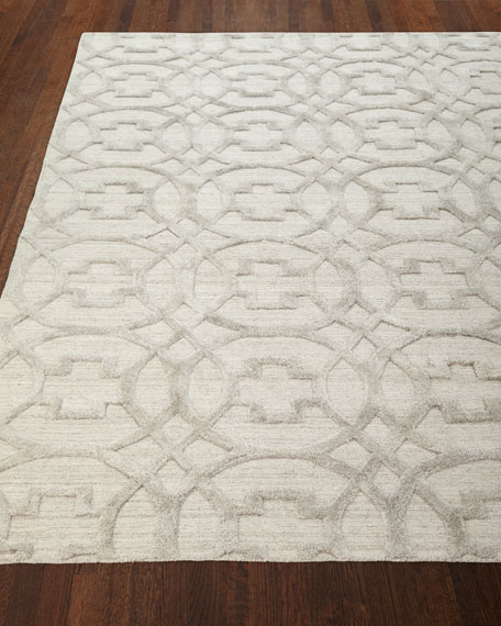 Exquisite Rugs Belmar Circles Hand-Knotted Rug, 10' x 14'