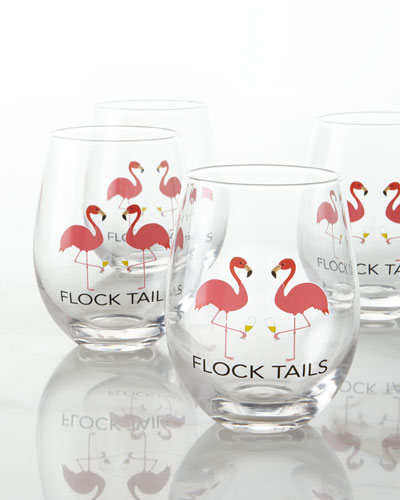 Flocktails Stemless Glasses, Set of 4
