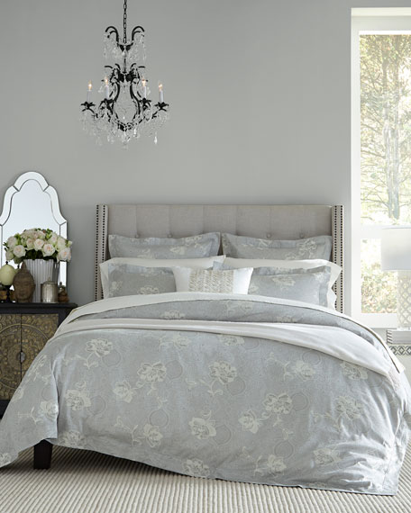 Floral Bloom Jacquard Full/Queen Duvet Cover