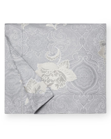 Floral Bloom Jacquard King Duvet Cover