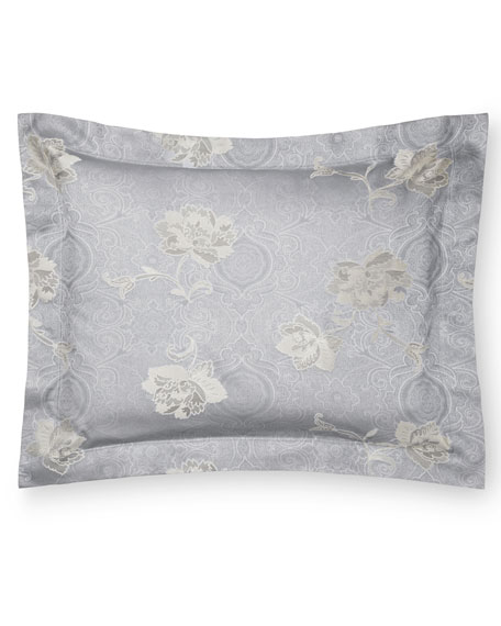 Floral Bloom Jacquard Continental Sham