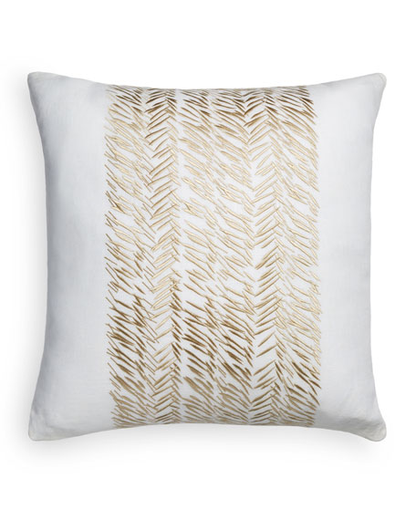 "Golden Mark Decorative Pillow, 20""Sq."