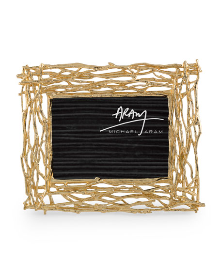 Michael Aram Twig Picture Frame, Gold