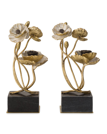 Michael Aram Anemone Candleholders, Set of 2