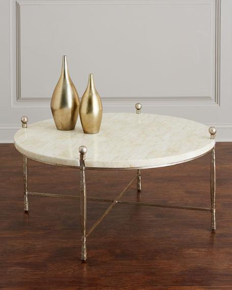 Bernhardt Clarion Stone-Top Coffee Table