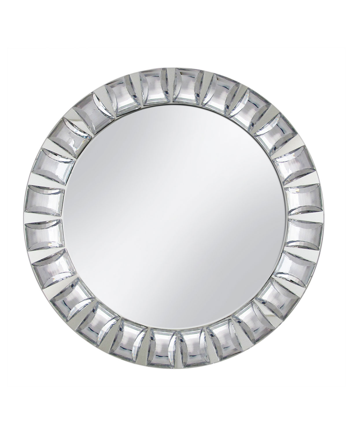 "Mirror Charger with Big Bead Trim, 13""Dia."